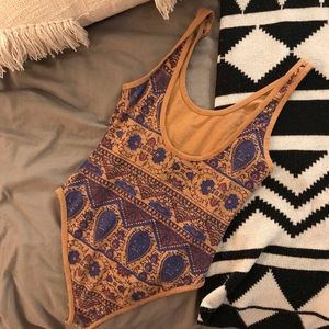 Free People Tops - Free people boho printed bodysuit